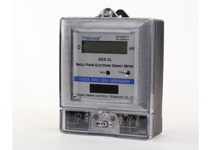 1 Phase Two Wire Digital KWH Meter For Household IEC521-1988 Standard