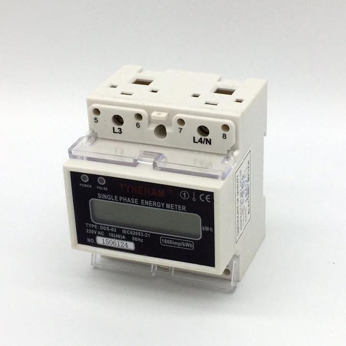 Two Wire DIN Rail Mounted Energy Meter / House DIN Rail Watt Hour Meter