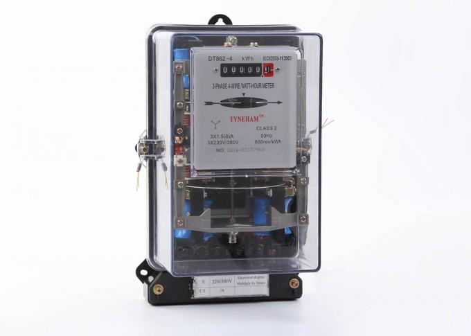 3 Phase 4 Wire Electromechanical KWH Meter With Transparent Cover 50HZ/60HZ