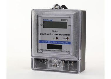 China 1 Phase Two Wire Digital KWH Meter For Household IEC521-1988 Standard supplier