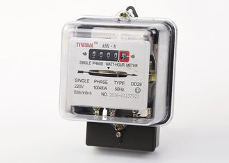 China Transparent Glass Cover Energy Consumption Meter / Black Kilowatt Power Meter supplier