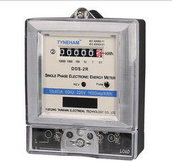 China Commercial Static Single Phase Energy Meter / Indoor 1 Phrase KWH Meter 230v supplier