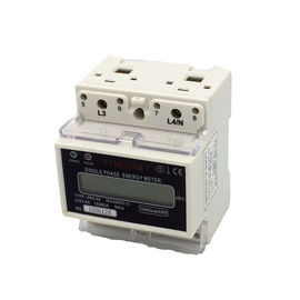 China Two Wire DIN Rail Mounted Energy Meter / House DIN Rail Watt Hour Meter supplier