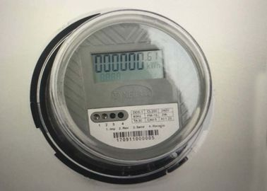 Socket Type Single Phase Electric Meter , Clear Cover AC 1 Phase 2 Wire Static KWH Meter