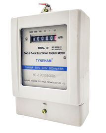 LCD Single Phase Watt Hour Meter , Transparent Cover Kwh Meter Digital 1 Phase