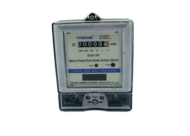 Household Register Single Phase KWH Meter With LCD Display Intelligent Design