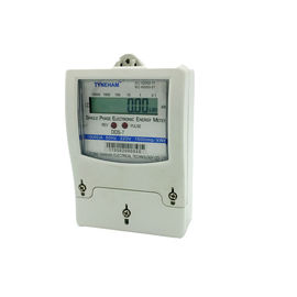 Plastic Single Phase Two Wire Energy Meter / 1 Phase Digital Energy Meter 220 V