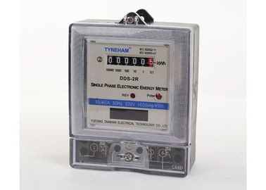 Home Single Phase Two Wire Static Energy Meter , Digital Kilowatt Hour Meter 220V