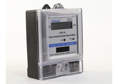 Single Phase Two Wire Digital KWH Meter With Black Base Hot Type LCD Display