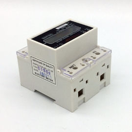 Small Plastic DIN Rail Mounted Single Phase KWH Meter For Office Buildings