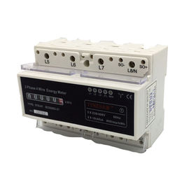 Digital 4 Wire 3 Phase KWH Meter DIN Rail For Industry Low Power Consumption