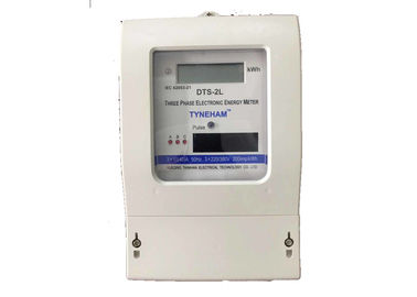 Long Life Three Phase Four Wire Energy Meter , Plastic KWH Meter 3 Phase